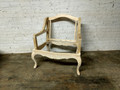 VANGUARD FURNITURE UNFINISHED FRENCH COUNTRY WING CHAIR FRAME