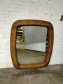 LEXINGTON FURNITURE HALEY & CARTER RATTAN MIRROR IN BURNT UMBER