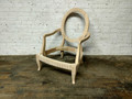 CENTURY FURNITURE UNFINISHED ELLIPSE CARVED ARM CHAIR FRAME