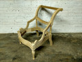 XS UPHOLSTERY UNFINISHED / RAW SMALL CARVED ACCENT CHAIR FRAME