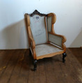 EJ VICTOR FURNITURE FINISHED / RAW CARVED ACCENT CHAIR  FRAME