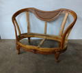 LEXINGTON FURNITURE LIZ CLAIBORNE PECAN GRACIE / UNUPHOLSTERED SETTEE FRAME