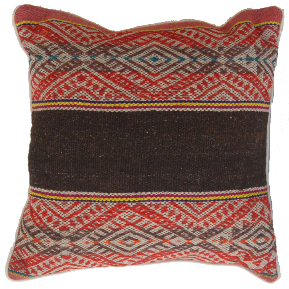 Pillows made from handmade textiles