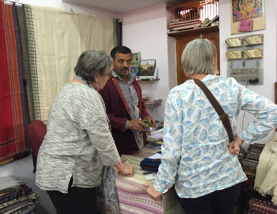 Mary Anne and Jody were able to design some custom bedding while they visited Shyamji