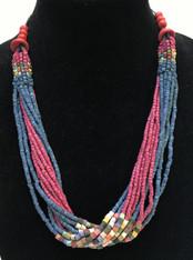Handmade Ceramic Bead Necklace E Guatemala