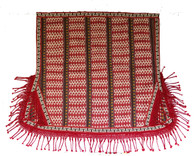 "Handwoven Wool Saddle Blanket Kyrgyzstan (44"" x 53"")"