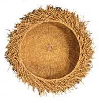 "Handmade Vetiver Basket Small Madagascar (4"" x 10"")"