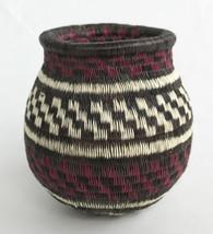 "Handmade Natural Fiber Wounaan Basket Panama  (2.5"" x 2.5"")"