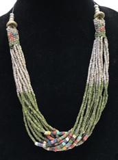 Handmade Ceramic Bead Necklace F Guatemala