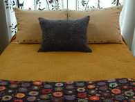 "Handmade Block Printed Reversible Queen Quilt India  (88"" X 90"")"