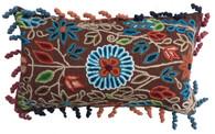 """Peru Woolen Hand Woven and Embroidered Pillow Rectangular (12"""" x 21"""")"""
