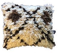"Handwoven Knotted Wool Pillow Morocco (14"" x 17"")"