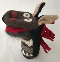 "Handmade Horse Puppet from Recycled Sweaters (5"" x 9"")"