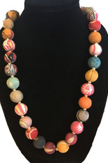Handmade Cloth Bead Necklace India