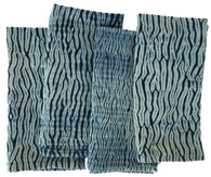 "Shibori Dyed Indigo Dyed Napkins India Set of 4 (20""x 20"")"