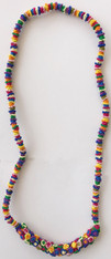 "Hand Knotted Button Multicolored Medium Necklace Morocco (13"" drop)"