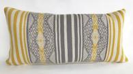 "Handwoven Traditional Woolen Natural  Dyed Pillow Peru (12"" x 25"")"