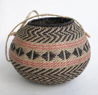 "Handmade Natural Fiber Ye'kwana Basket Venezuela 3 (3.75"" T x 5.25""W)"