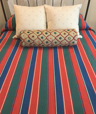 "Handwoven Cotton Coverlet 2 Argentina ( 116""w x 94""L)"