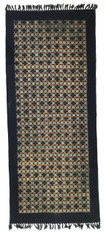 "Handmade Block Printed Natural Dyed Canvas Runner Rug India (30"" x 70"")"