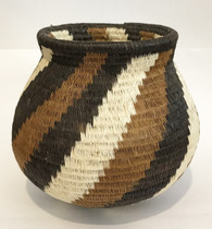 "Handmade Natural Fiber Wounaan Basket Panama  (3.75""tall x 4""wide x 2.75 "" opening)"