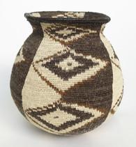 "Handmade Natural Fiber Wounaan Basket 5 Panama  (4"" x  4"")"