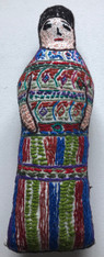"Handmade Embroidered Doll 6 Guatemala (10"")"