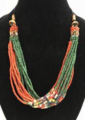 Handmade Ceramic Bead Necklace H Guatemala