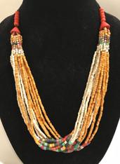 Handmade Ceramic Bead Necklace K Guatemala