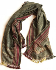 "Handwoven Woolen Natural Dyed Throw India (37"" x 84"")"