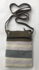 "Cross Shoulder Zipper Pouch Purse 2 Guatemala (5.5"" x 7.5"")"