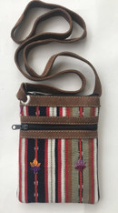 "Cross Shoulder Zipper Pouch Purse Solola Guatemala (5.5"" x 7.5"")"