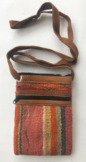 "Cross Shoulder Zipper Pouch Purse Peru and Guatemala (5.5"" x 7.5"")"