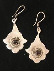 """Handmade Vintage Berber Earrings  Garnet Morocco (1.25"""" drop)"""