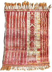 "Handwoven Natural Wool Pile  Berber Rug Morocco (39"" x 49"")"