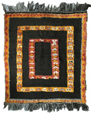 "Handwoven Handwoven and Pile Knotted Tribal Berber Rug Morocco (36"" x 43"")"