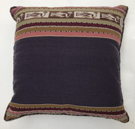 "Handwoven Traditional Woolen  Pillow Bolivia (17"" x 18"")"