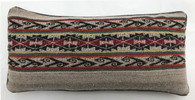 "Handwoven Traditional Woolen  Lumbar Pillow Peru (9"" x 19"")"