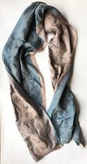 """Handmade Felted Silk  Scarf Shawl Kyrgyzstan (17"""" x 76"""")"""