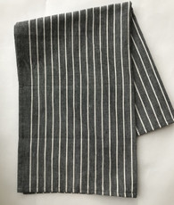 "Handwoven Organic Cotton Natural Dyed Hand Towel Charcoal India (20"" x 28"")"