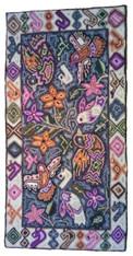 "Handmade Rug by Maria Birds Guatemala (24"" x 48"")"