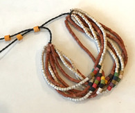 Handmade Ceramic Beaded Bracelet  Terra Cotta and Natural Guatemala