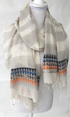 "Cruelty Free Silk Hand Spun Hand Woven Scarf India (24"" x 70"")"