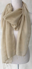 "Cruelty Free Silk Hand Spun Hand Woven Scarf India (17"" x 78"")"