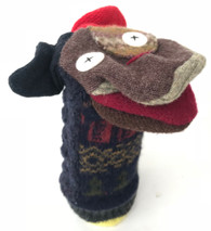 "Handmade Dog Puppet  from Recycled Sweaters (5"" x 9"")"