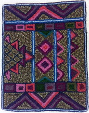 "Handmade Rug by Glendy Small Guatemala (18"" x 22"")"