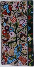 "Handmade Rug by Rosmery Large Guatemala (24"" x 48"")"