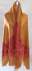 "Pashmina Embroidered Shawl  India (28"" x 80"")"