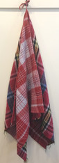 """Handmade Stitched Cotton Traditional Gamcha Towel Red India (26"""" x 56"""")"""