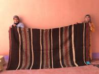 Woven Goat Hair Rug Morocco (54 x 60)